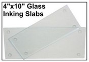 "4"" X 10"" Glass Inking Slab"