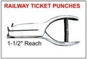 "#5 Railway Ticket Punch, 1-1/2"" Reach"