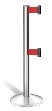 Beltrac 3000 Series, ADA Compliant Double-Line Retractable Belt Crowd Control Stanchions