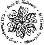Custom Paisley Monogram Address Stamp