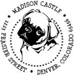 Custom Pug Dog Monogram Address Stamp