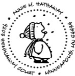 Catching Snowflakes Monogram Address Stamp