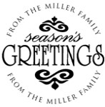 Season's Greetings Monogram Address Stamp