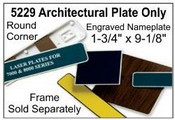 "5229 Architectural Engraved Nameplate 1-3/4""x9-1/8"""