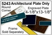 """5243 Architectural Engraved Plastic Plate 4-1/8""""x13-1/8"""""""