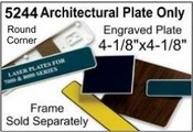 """5244 Architectural Engraved Plastic Plate 4-1/8""""x4-1/8"""""""