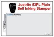 Justrite Plain Self-Inking 53-PL Stamp