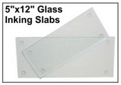 "5"" X 12"" Glass Inking Slab"