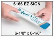 "6166 E-Z Sign Frame, 6-1/8""x6-1/8"", Square Corner
