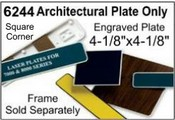 """6244 Architectural Engraved Plastic Plate 4-1/8""""x4-1/8"""""""