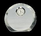 "4-1/2"" Round Premier Crystal Clock"