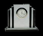 "6"" Premier Crystal Clear/Black Clock"
