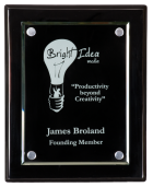 Recognition Awards Awards and Plaques Award Black Piano Finish Floating Acrylic Plaque