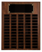 Recognition Awards Awards and Plaques 60 Plate Cherry Finish Perpetual Plaque