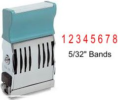 Xstamper 72011 Pre-Inked 8 Band Numbering stamp