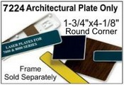 7229 Architectural Molded Nameplate Square Corner Molded Plastic Plate