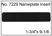 """1-3/4"""" x 9-1/8"""" Name Plate Archectural Nameplates"""