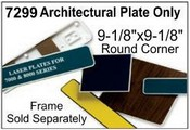 7299 Architectural Molded Sign Plate