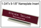 "1-3/4"" x 9-1/8"" Name Plate