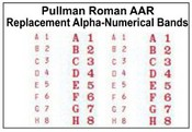 Pullman Alpha-Numerical Replacement Bands
