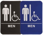 "MEN Handicap Stock ADA Sign, 6""x9"" ADA Stock Signs ada sign requirements ada compliant signs custom ada signs ada guidelines signs ada signs wholesale ada bathroom signs ada signs online ADA Office Signs"