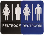 "RESTROOM Stock ADA Sign, 6""x9""