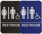 RESTROOM Unisex Handicap Stock ADA Sign ADA Stock Signs ada sign requirements ada compliant signs custom ada signs ada guidelines signs ada signs wholesale ada bathroom signs ada signs online
