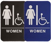 "WOMEN Handicap Stock ADA Sign, 6""x9""