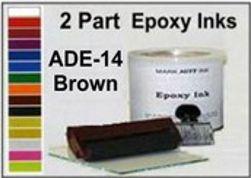 Epoxy ink 2 Part Epoxy Ink ADE14 Brown 2-Part Epoxy Ink Brown Epoxy Ink