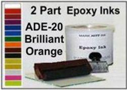 ADE20QT, Epoxy Ink ADE20 Quart Brilliant Orange Epoxy Ink