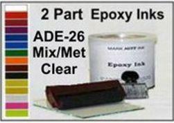 ADE26QT, Epoxy Ink ADE26 Quart Mix/Met Clear Epoxy Ink