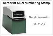 Acroprint Time Clock Acroprint AE-N Numbering Stamp