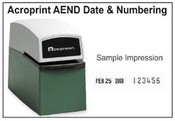 Acroprint Time Clock Acroprint AED-N numbering and date stamp