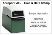 Acroprint Time Clock Acroprint AE-T date and time stamp