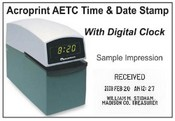 Acroprint Time Clock Acroprint ET-C Digital time and date stamp