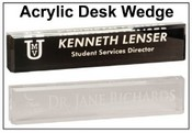 Acrylic Desk Wedge Name Plate