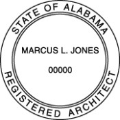 Alabama Architectural Hand Stamp