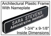 "1-3/4"" x 9-1/8"" Plastic Frame w/Name Plate