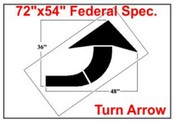 Federal Spec Curve Arrow Stencil