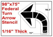 Federal Spec STRAIGHT ARROW Stencil