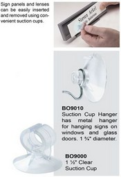 BO9010 Clear Suction Cup with Metal Hanger