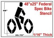 BIKE Symbol, Federal Spec Bike Stencil