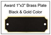 1x3 Brass Plate  Recognition Award Brass Plates Recognition Awards Awards and Plaques Perpetual Plates perpetual plaque