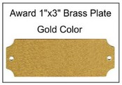 1x3 Brass Plate  Recognition Award Brass Plates Recognition Awards Awards and Plaques Award perpetual plaque