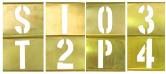 """Brass Interlocking Stencils 2"""" Brass Letter Stencils Brass Interlocking 13 Piece Number Set"""