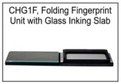Glass Inking Slab Tabletop Fingerprint Unit