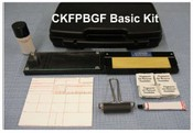 CKFPBGF Basic Fingerprint Kit, Folding Glass Inking Station