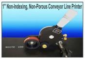 """CLP-100 1"""" Non-Indexing, Non-Porous Conveyor Line Printer"""
