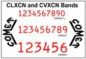 Comet CLXCN and CVXCN Replacement Bands Self-Inking Comet Replacement Bands