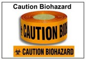 """CAUTION BIOHAZARD"" Barrier Tape"